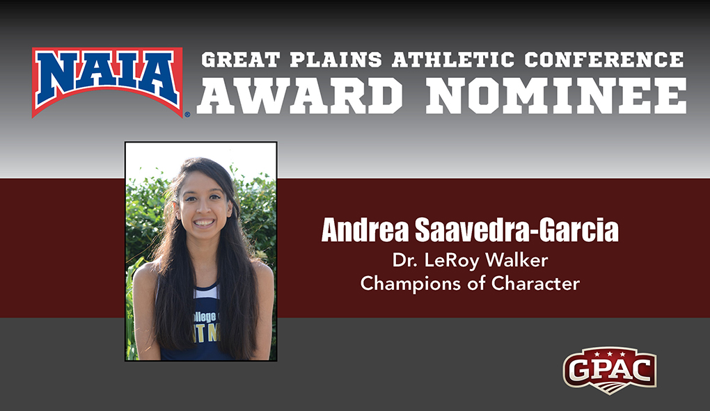 Photo for Saavedra-Garcia selected as GPAC Champions of Character nominee